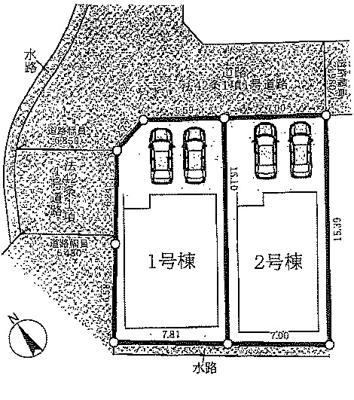 【区画図】草津市上笠3丁目 分譲2区画2号棟