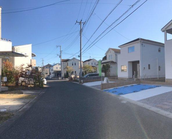 【前面道路含む現地写真】野田市光葉町1期 全2棟
