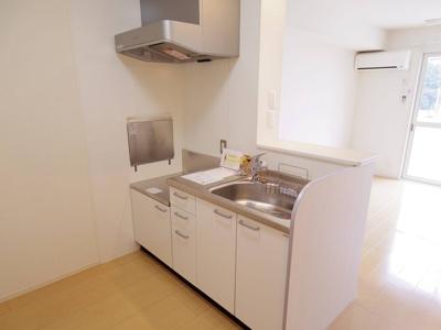 カウンターキッチン(浄水器一体型水栓)