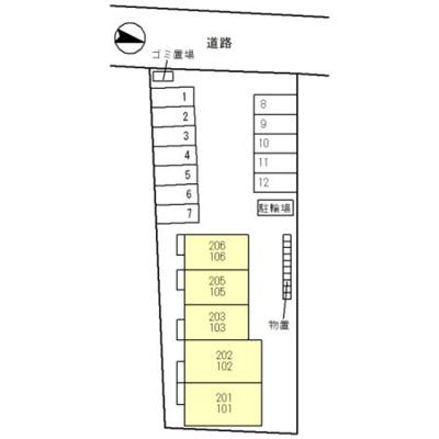 【区画図】仮称)D-room婦中町