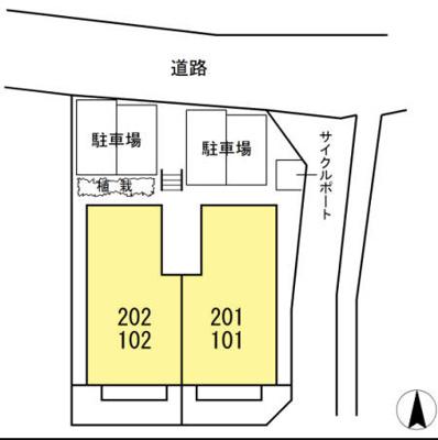 【区画図】セジュール ビュット