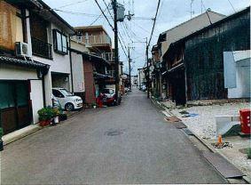 【前面道路含む現地写真】上京区東柳町 建築条件無し 売土地