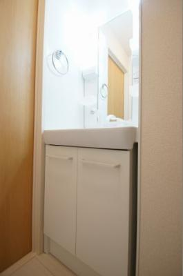 「あると便利なシャワー付の独立洗面台です」
