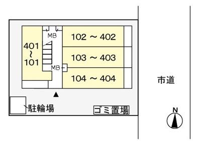 【区画図】クラール並木