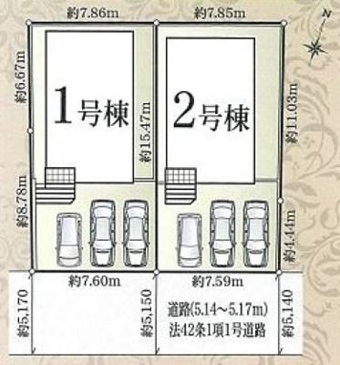 【区画図】中区富塚町 第5 AR