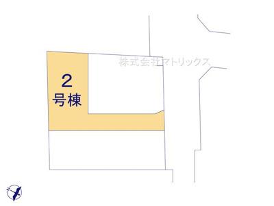 【区画図】❖駅チカ♪南6m公道面☆LDK20帖+5部屋☆2台駐車可☆ゆとりの敷地にゆとりの建物 最終1棟❖