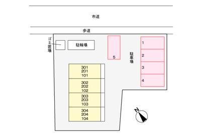【区画図】フレール与野本町