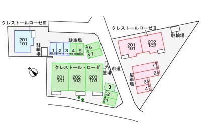 【区画図】クレストールローゼⅢ
