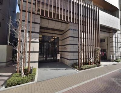 デュオシティ上野松が谷のアプローチです。