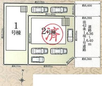 【区画図】東区篠ケ瀬町 第3 AR
