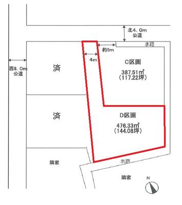 C号地 850万円 区画図です:吉川新築ナビで検索♪