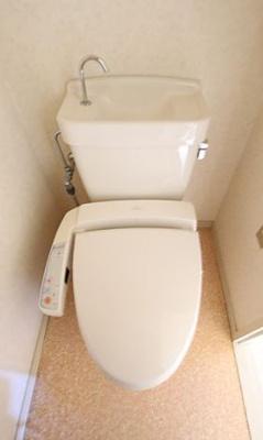 落ち着いた色調のトイレです(同物件別部屋の写真)