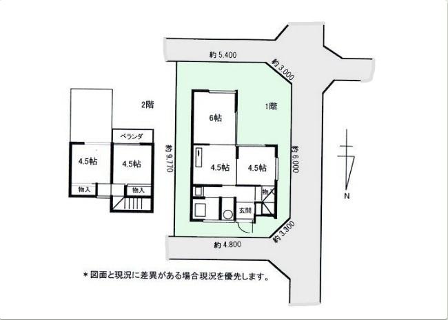 【土地図】昭島市美堀町1丁目 売地