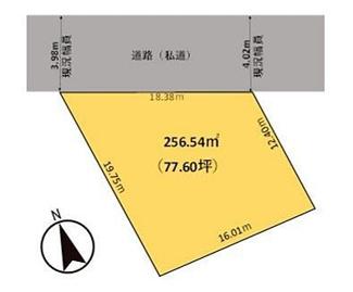 土地面積は広々77坪超、和田堀公園に面した贅沢な立地です