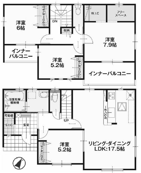 【区画図】河和田1丁目新築戸建 7期