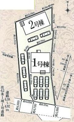 【区画図】浜北区中条 第3 AR
