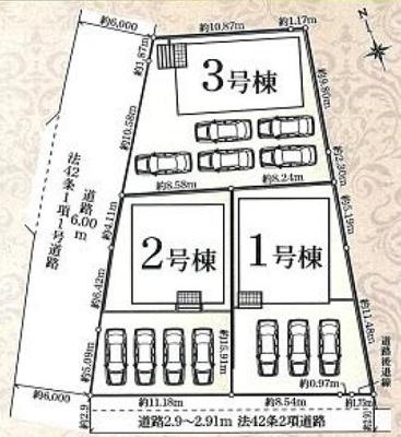 【区画図】中区萩丘 第8 AR