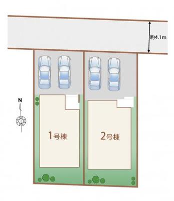 【外観】所沢市花園1丁目 全2棟 1号棟