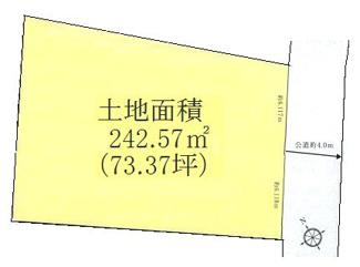 広大な『善福寺川緑地』至近の良好な住環境、土地面積73坪超!