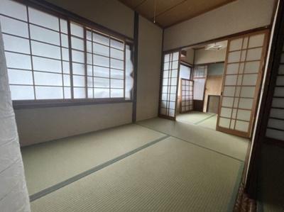 開放感のある和室です