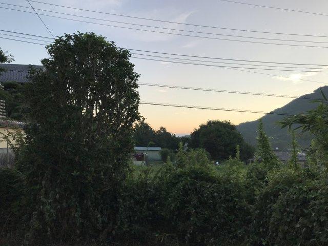 朝焼けの空が綺麗ですよ♪