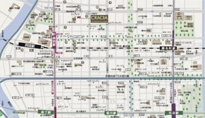 【地図】クレイシア両国ルクール