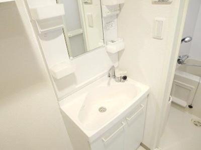 独立洗面台があるのは嬉しいですね。