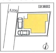 【区画図】横浜市鶴見区下末吉5丁目 借地権付新築戸建
