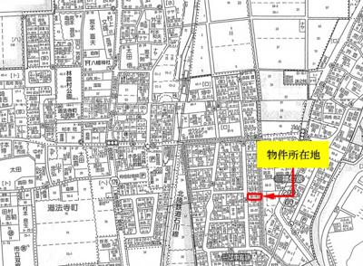 【地図】坂尻町土地