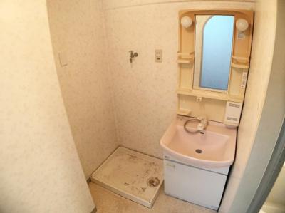 洗面化粧台です。ランドリースペースもあります。