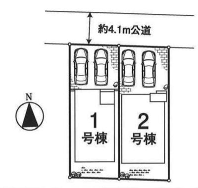 【全2棟・2号棟】土地面積109.76㎡(33.20坪)