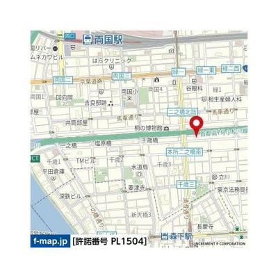 【地図】ブライズ両国DUE