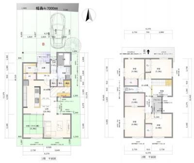 【新築プラン】延床面積:119.38㎡ 建物価格:24,410,000円