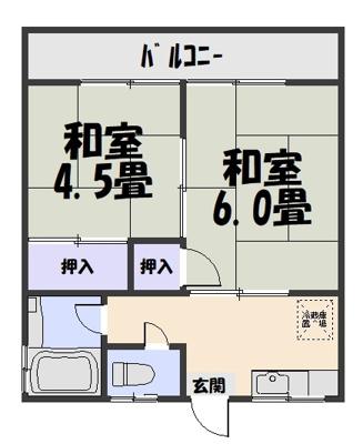 【区画図】みどり荘