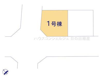 【区画図】名古屋市天白区道明町124-1【仲介手数料無料】新築一戸建て