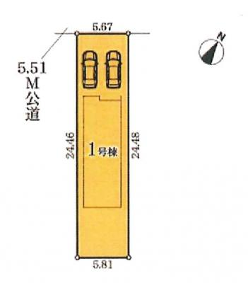 【区画図】名古屋市中村区新富町5丁目1−27【仲介手数料無料】新築一戸建て