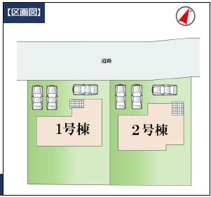 【区画図】下妻市下妻6期 新築戸建 1号棟