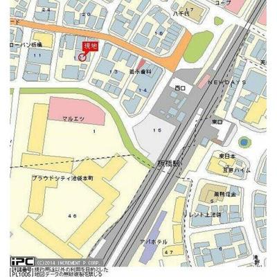 【地図】ライオンズマンション板橋第弐