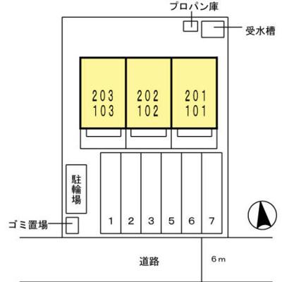【区画図】D-roomたつみⅡ