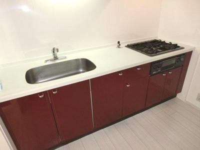 システムキッチン 3口ガスコンロ