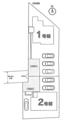 【区画図】牛久市南Ⅱ(全2棟)