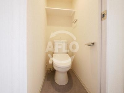 プレサンス谷町九丁目駅前 築浅ならではの清潔なトイレ