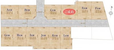 【区画図】三鷹市北野4丁目 売地 京王線 仙川駅