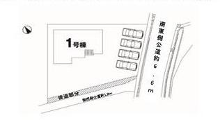 【区画図】つくば市大角豆1期 新築戸建て