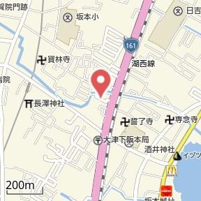 【地図】下阪本4貸家 Y邸