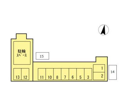 【区画図】コーポF