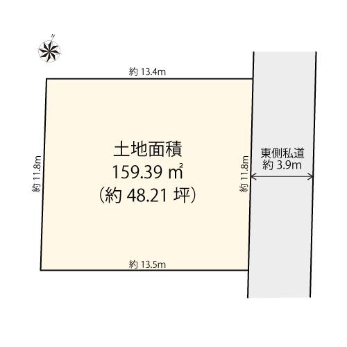 【土地図】世田谷区粕谷3丁目
