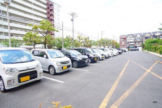 【駐車場】平野加美グランドハイツ1号棟