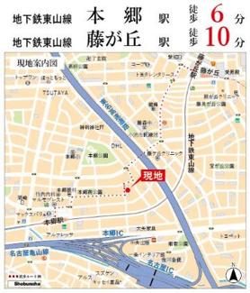 【地図】ダイアパレス本郷