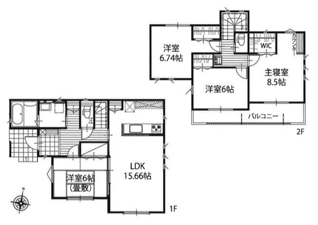 新築分譲住宅 飯能市双柳 全6棟(5号棟)